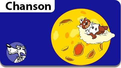 Musiques gratuites pour enfants, parents et enseignants. L'illustration de la chanson Au Clair de la Lune.