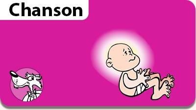 Musiques gratuites de Noël. L'illustration de la chanson de Noël Il est né le Divin Enfant.