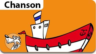 Musiques gratuites pour enfants, parents et enseignants. L'illustration de la chanson Il était un petit navire.