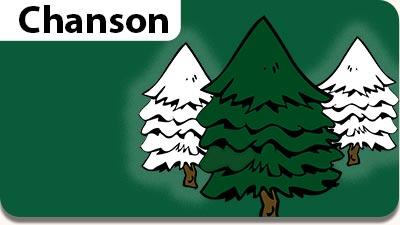 Chanson de Noël et musique gratuite de Noël pour enfants, parents et enseignants. Le dessin de la chanson Mon beau Sapin.